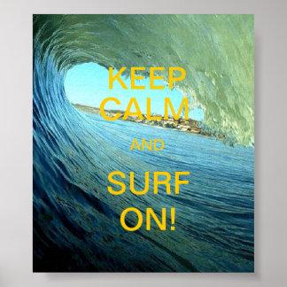 平静および波を保って下さい! ポスター