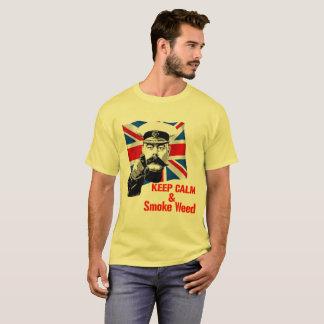 平静および煙の雑草を保って下さい Tシャツ