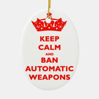 平静および禁止の自動火器を保って下さい セラミックオーナメント