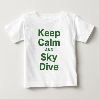平静および空の飛び込みを保って下さい ベビーTシャツ