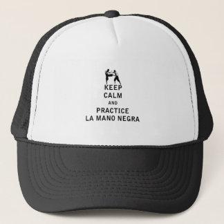 平静および練習のLa Mano Negraを保って下さい キャップ