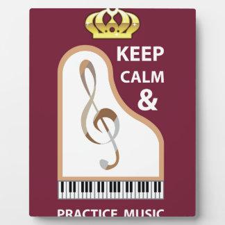 平静および練習音楽ベクトルを保って下さい フォトプラーク