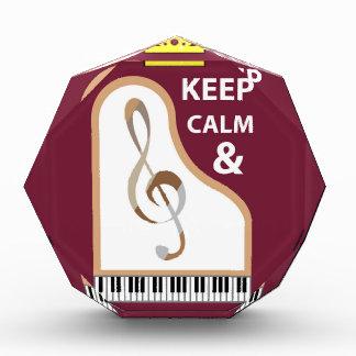 平静および練習音楽ベクトルを保って下さい 表彰盾