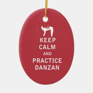 平静および練習Danzanを保って下さい セラミックオーナメント