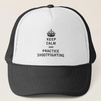 平静および練習Shootfightingを保って下さい キャップ