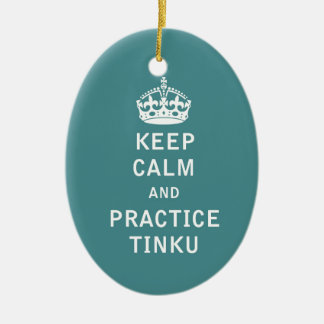 平静および練習Tinkuを保って下さい セラミックオーナメント