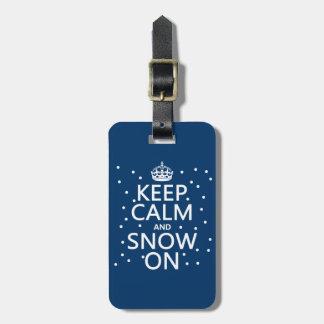 平静および雪を保って下さい ラゲッジタグ