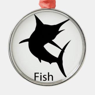 平静および魚を飼って下さい メタルオーナメント