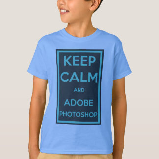平静およびAdobe Photoshopを保って下さい Tシャツ