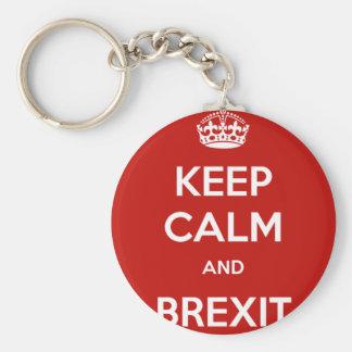 平静およびBrexitを保って下さい キーホルダー