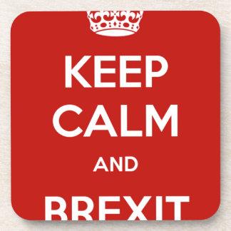 平静およびBrexitを保って下さい コースター