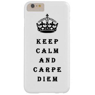 平静およびCarpe Diemの電話箱保って下さい Barely There iPhone 6 Plus ケース