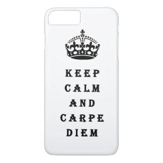 平静およびCarpe Diemの電話箱保って下さい iPhone 8 Plus/7 Plusケース