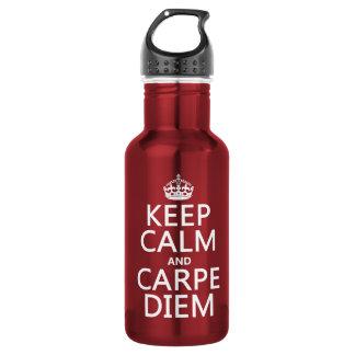 平静およびCarpe Diemを保って下さい ウォーターボトル