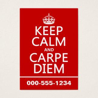 平静およびCarpe Diemを保って下さい 名刺