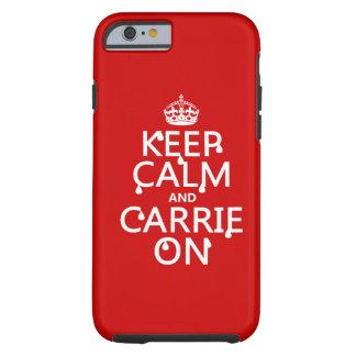 平静およびCarrieのオン血-すべての色--を保って下さい iPhone 6 タフケース