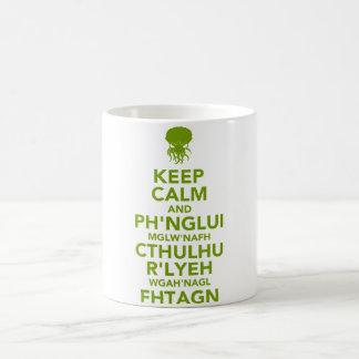 平静およびFhtagnを保って下さい コーヒーマグカップ
