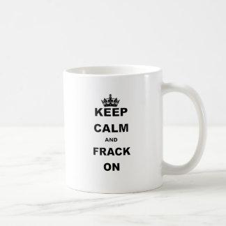 平静およびFRACKを保って下さい コーヒーマグカップ