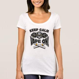 平静およびVapeを保って下さい: スカル Tシャツ