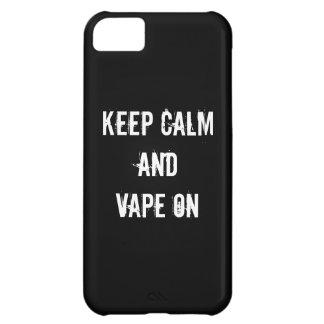 平静およびVapeを保って下さい iPhone 5C ケース