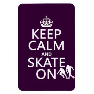 平静そしてスケートをの保って下さい(rollerskaters) マグネット