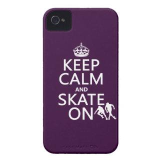 平静そしてスケートをの保って下さい(rollerskaters) Case-Mate iPhone 4 ケース