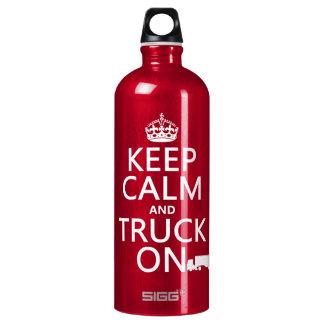 平静そしてトラックをの保って下さい(あらゆる色で) ウォーターボトル