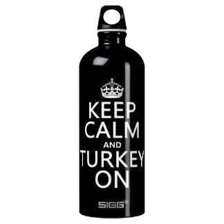 平静そしてトルコをの保って下さい(クリスマス) ウォーターボトル