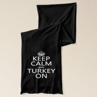 平静そしてトルコをの保って下さい(クリスマス) スカーフ