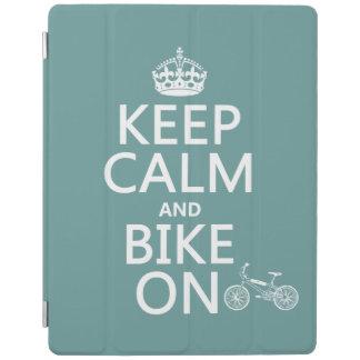 平静そしてバイクをの保って下さい(どの色でも) iPadスマートカバー