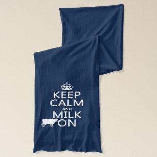 平静そしてミルクをの保存して下さい(牛) (すべての色で) スカーフ