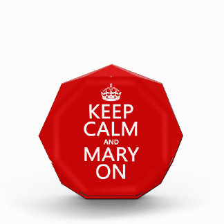 平静そしてメリーをの保って下さい(どの色でも) 表彰盾