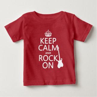 平静そして石をの保って下さい(ギター) (どの色でも) ベビーTシャツ