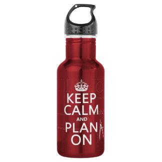 平静そして計画をの保って下さい(あらゆる色で) ウォーターボトル