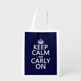平静そしてCarlyをの保って下さい(どの色でも) エコバッグ