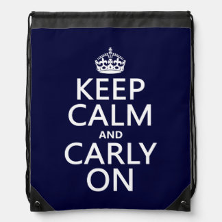 平静そしてCarlyをの保って下さい(どの色でも) ナップサック