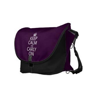 平静そしてCarlyをの保って下さい(どの色でも) メッセンジャーバッグ
