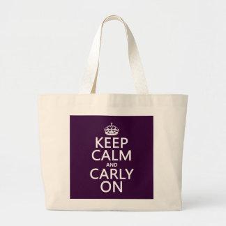 平静そしてCarlyをの保って下さい(どの色でも) ラージトートバッグ