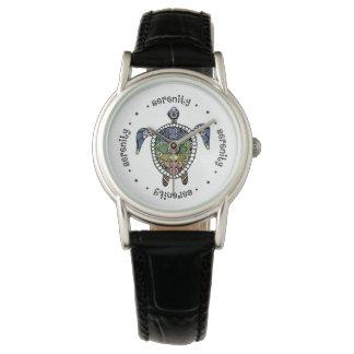 平静のカメのチャクラ 腕時計