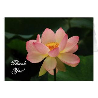 平静のピンクのはすの花の仏教徒は感謝していしています カード