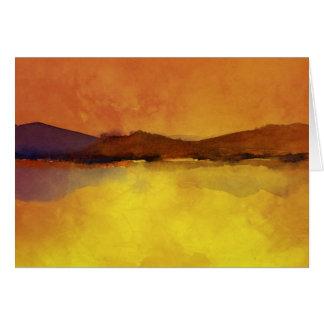 平静の景色の水彩画 グリーティングカード