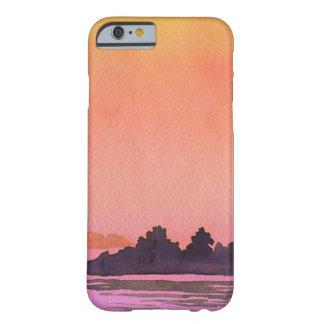 平静の景色の水彩画 BARELY THERE iPhone 6 ケース