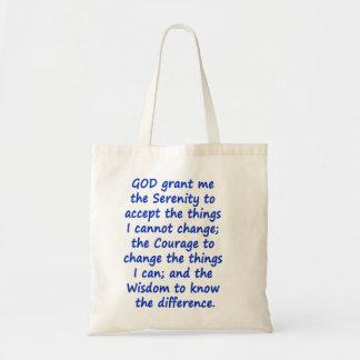 平静の祈りの言葉のトートバック トートバッグ