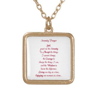 平静の祈りの言葉のネックレス ゴールドプレートネックレス