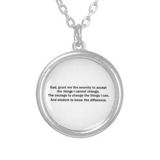平静の祈りの言葉のネックレス シルバープレートネックレス