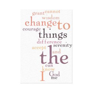 平静の祈りの言葉の単語の芸術 キャンバスプリント