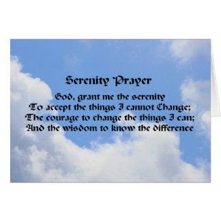 平静の祈りの言葉の感動的なメッセージカードの青空 カード