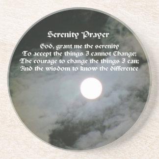 平静の祈りの言葉の満月の感動的なコースター コースター