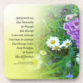 平静の祈りの言葉の花園 コースター