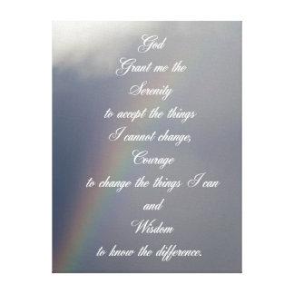 平静の祈りの言葉の虹 キャンバスプリント